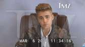 Justin Bieber in a March 6, 2014, deposition