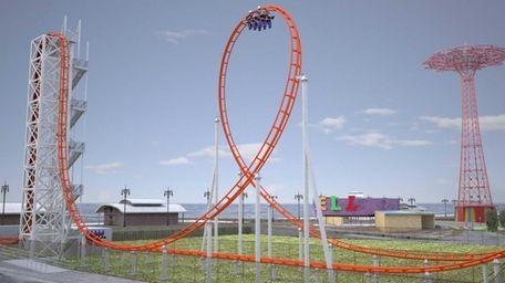 """A new major roller coaster, """"Thunderbolt,"""