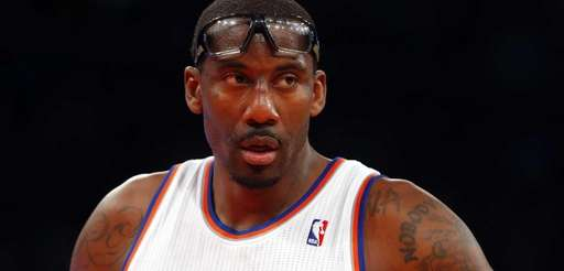 Amar'e Stoudemire of the Knicks looks on against