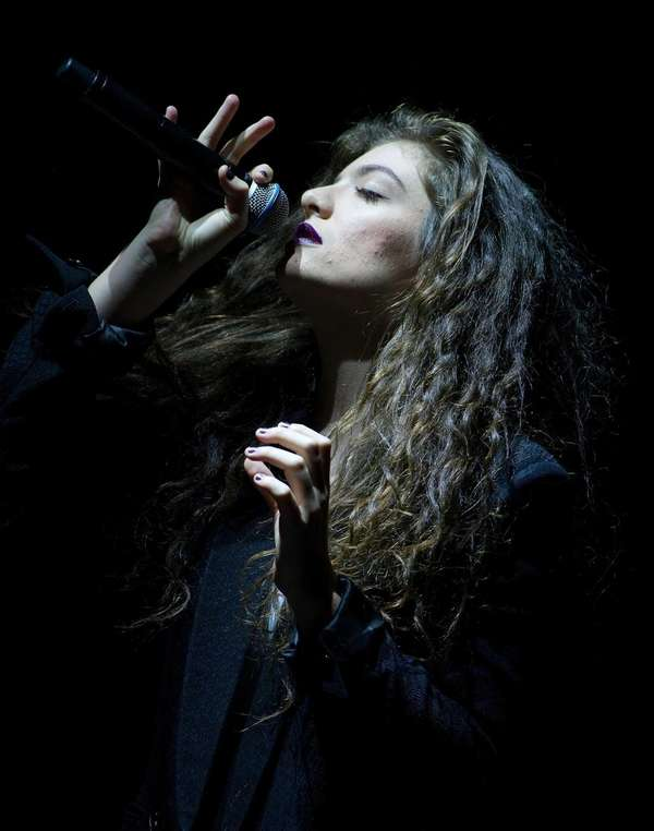 New Zealand singer-songwriter Lorde performs in concert at