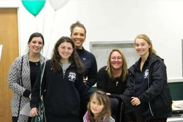 Caitlin Stryka with Samantha Brescia and the Lady