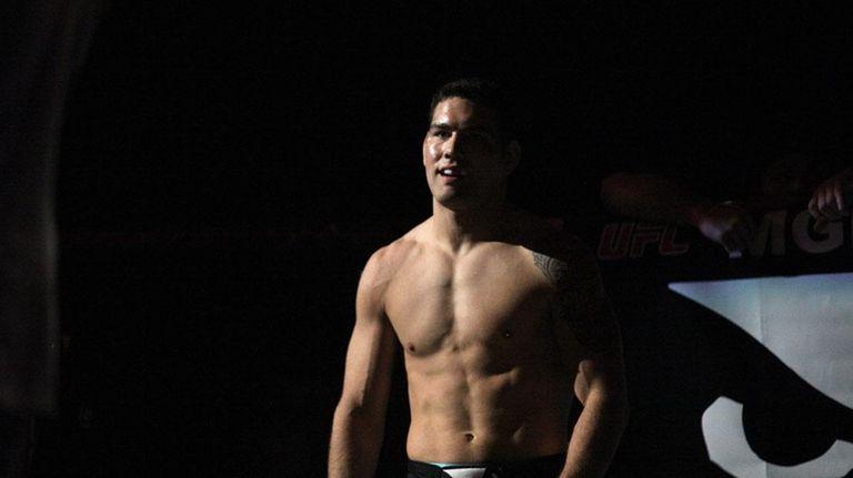 UFC middleweight champion Chris Weidman, from Baldwin, before