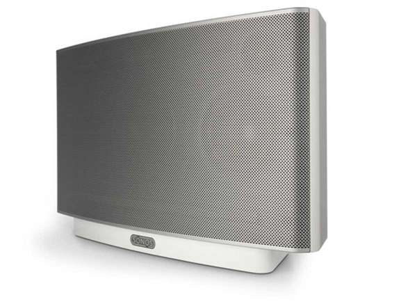The Sonos Play:5 single-speaker streaming audio system.