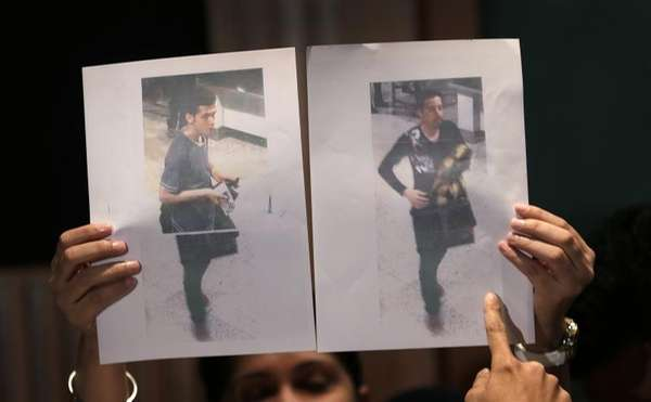 Pictures of the two men who boarded the