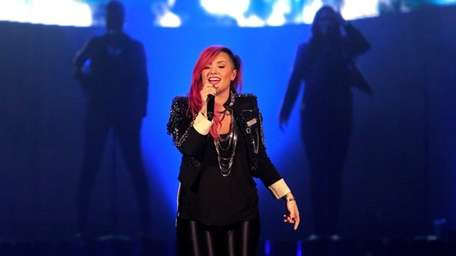 Demi Lovato performs on stage at the Nassau