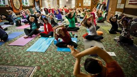 Yoga classes are offered at the United Methodist