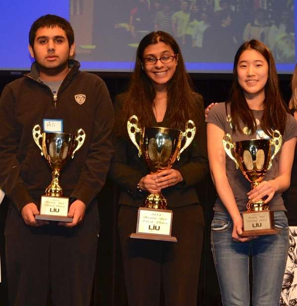 From left, the 15th annual Brain Bee's third-place