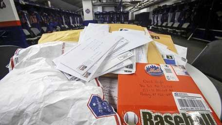 A pile of fan mail letters waiting to