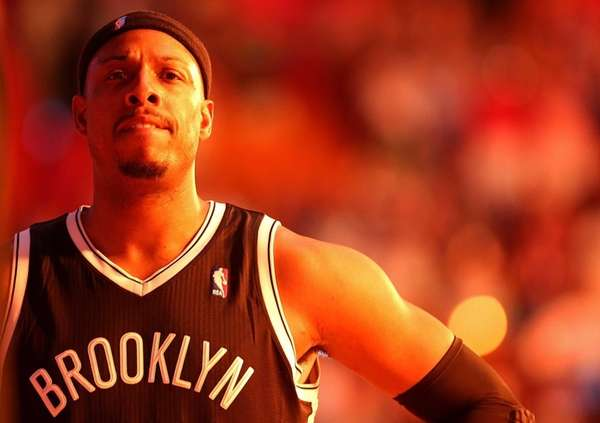 Paul Pierce looks on during a game against