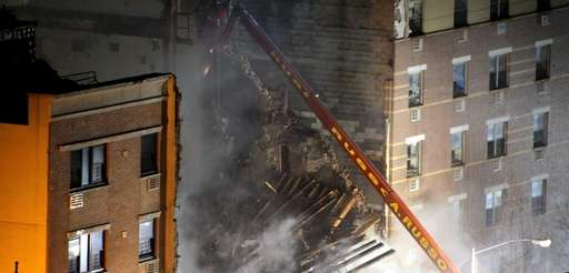 New York City firefighters respond to a five-alarm