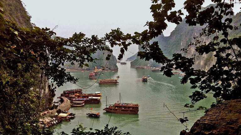 This is the view of Halong Bay from