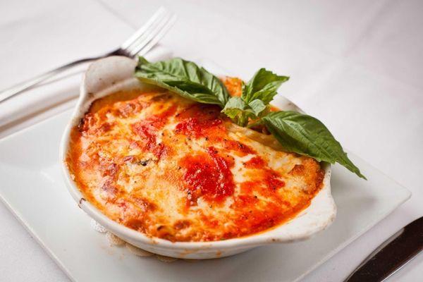 Chef-owner George Echeverria's three-layer lasagna at Eric's Italian