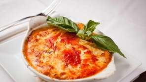 Chef-owner George Echeverria's three-layer lasagna at Eric's Italian