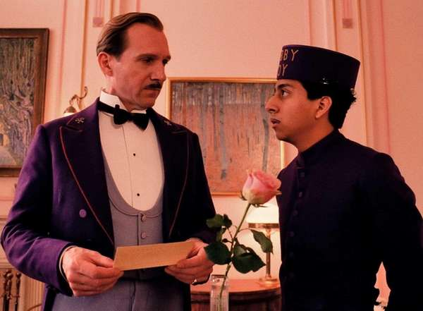 Ralph Fiennes, left, and Tony Revolori in