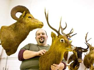 George Dante, a taxidermist and president of Wildlife