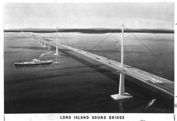 proposed long island sound bridge. Digital Image