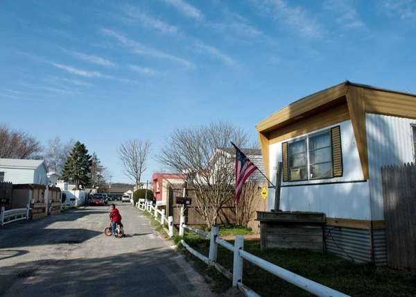 The Frontier Park mobile home park as seen