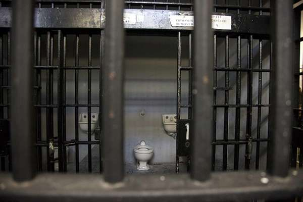 A cell block.