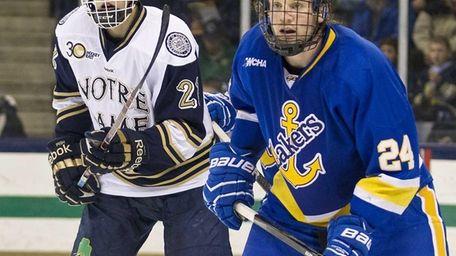 Lake Superior State defenseman Kevin Czuczman (24) and