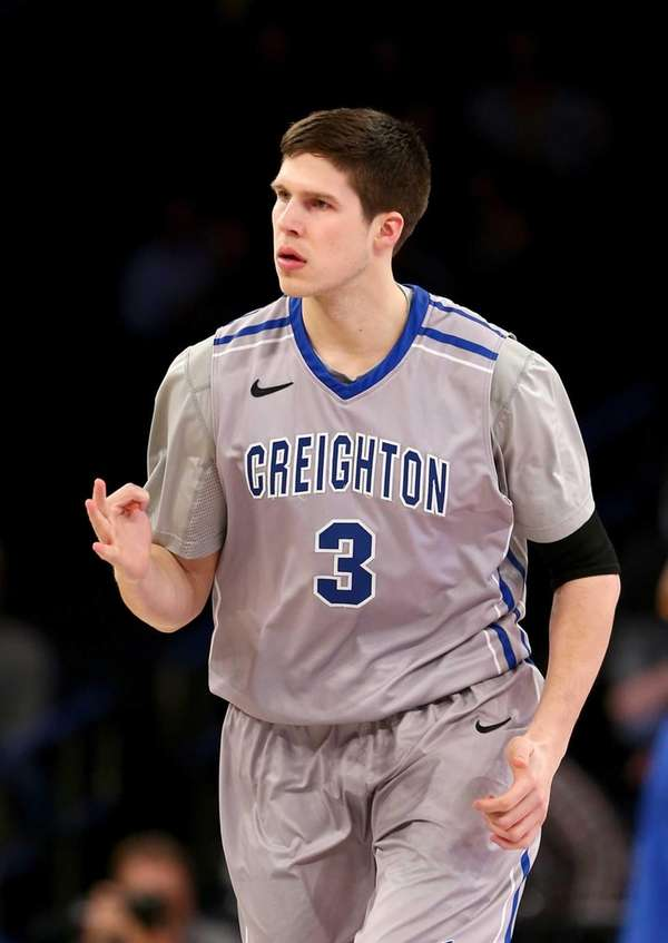 Doug McDermott of the Creighton Bluejays celebrates one