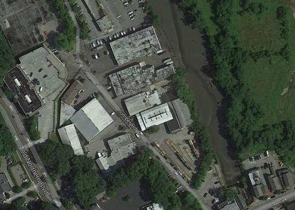 An overhead view of 17 to 21 Lumber