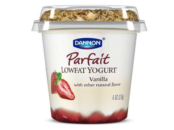 A Dannon yogurt Parfait featured on the company's