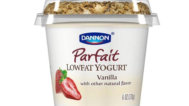 A Dannon yogurt Parfait featured on the company's