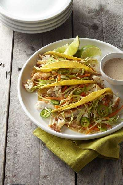 The fish tacos recipe can be found in