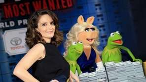 Tina Fey, Constantine, Miss Piggy and Kermit the