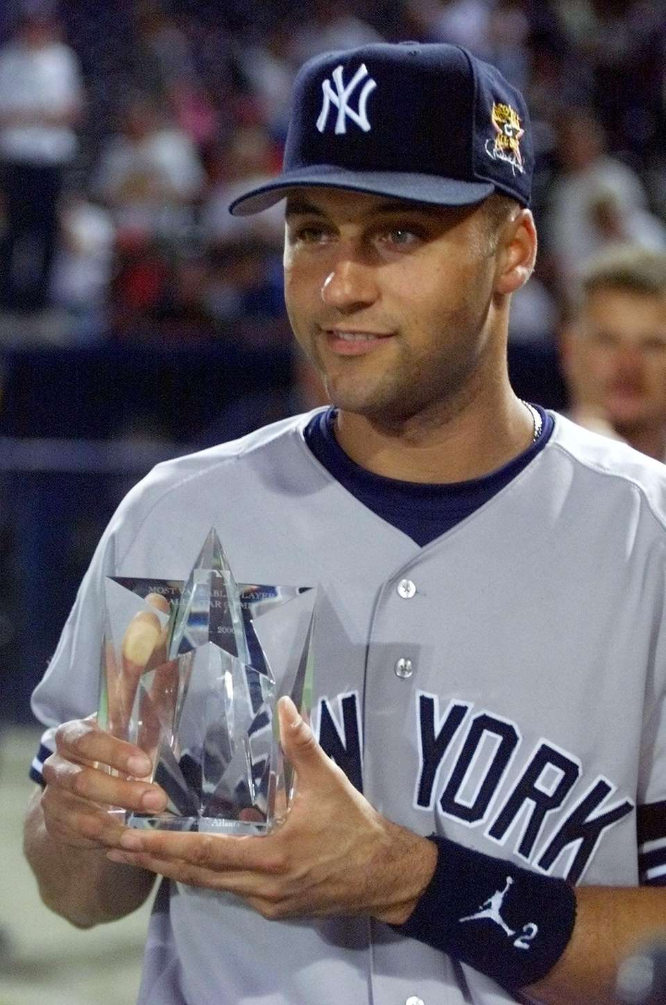 In his first All-Star Game start, Jeter doubled