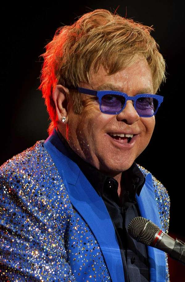 Elton John performs at Gran Parque Central stadium