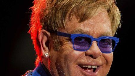 Elton John performs at Gran Parque Central stadium