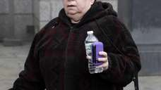 Annette Bongiorno leaves federal court in Manhattan on