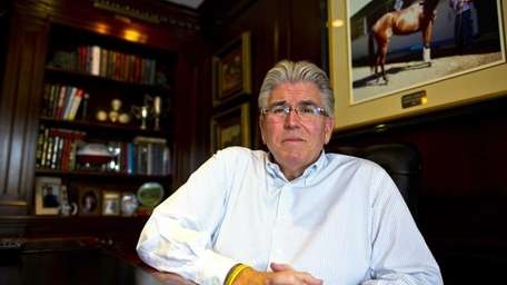 Mike Francesa is shown in his home in