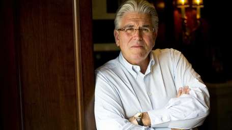 Mike Francesa at his Manhasset home on Thursday,