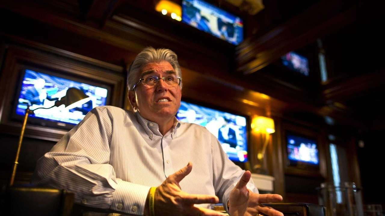 Mike Francesa at his home in Manhasset on