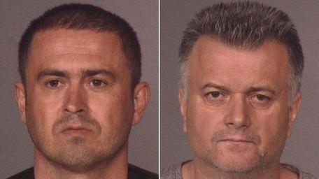 Romanian nationals Dorin Husa, 37, left, and Niculae