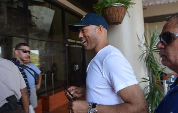 Former Yankees pitcher and Panamanian Mariano Rivera smiles