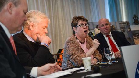 NYS DOT Commissioner Joan McDonald speaks as Long