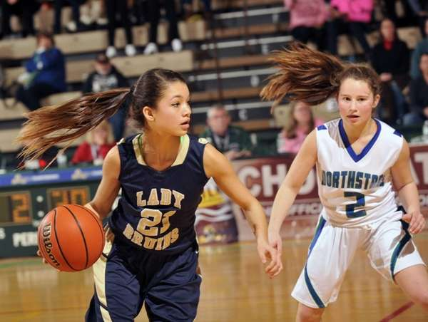 Baldwin's Jade Aponte moves the ball against Cicero-North
