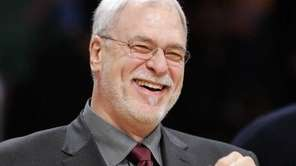Phil Jackson smiles prior to their NBA basketball