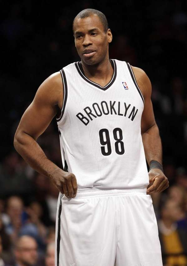 Brooklyn Nets' Jason Collins enters the game during