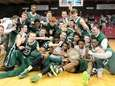 Holy Trinity celebrates after defeating Xavier in the