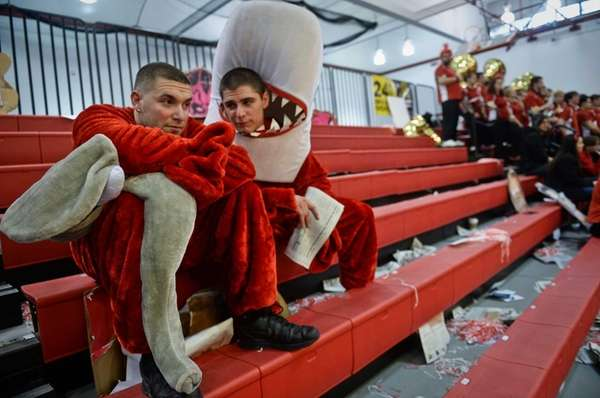 Stony Brook University students Eric Apicella, left, and