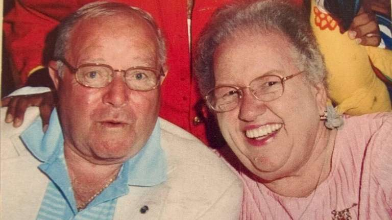 Harry and Shirley Findel at their 50th wedding