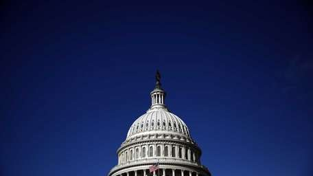 The United States Capitol building is seen in