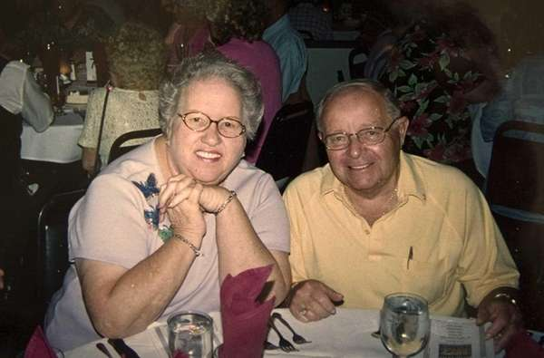 Harry Findel and his wife Shirley during the