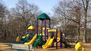 A playground at Belmont Lake State Park on
