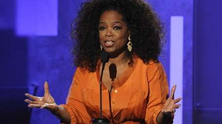 Oprah Winfrey speaks at the 45th NAACP Image