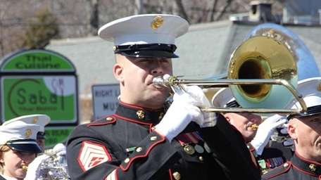 Members of the Quantico Marine Corps Band led